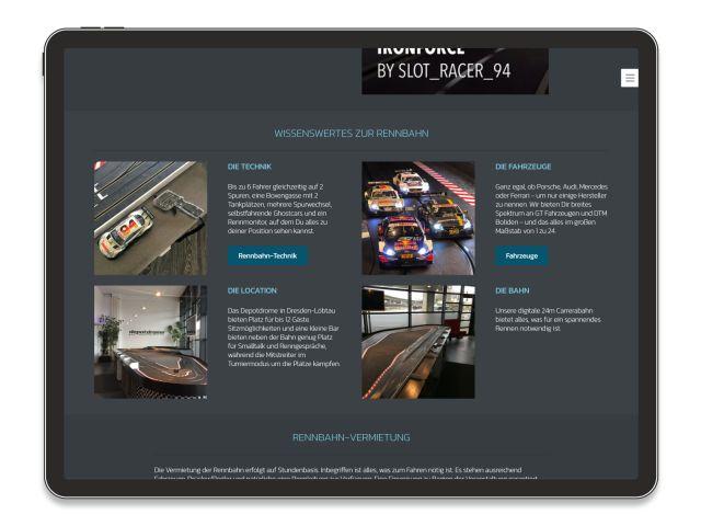 Beispiel Website Depotdrome